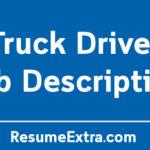 Truck Driver Job Description Sample