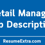 Retail Manager Job Description Sample