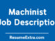 Machinist Description Job Sample