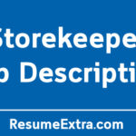 Storekeeper Job Description Sample
