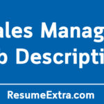 Sales Manager Job Description Sample