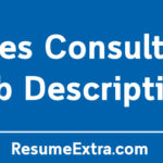 Sales Consultant Job Description Sample