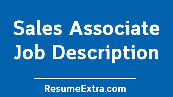 Sales Associate Job Description Sample
