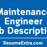 Maintenance Engineer Job Description Sample