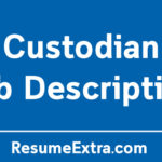 Custodian Job Description Sample