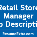Retail Store Manager Job Description Sample