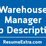Warehouse Manager Job Description Sample
