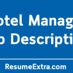 Hotel Manager Job Description Sample