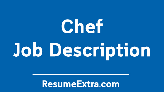 Chef Job Description Sample