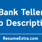 Bank Teller Job Description Sample