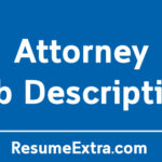 Professional Attorney Job Description Sample