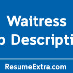 Waitress Job Description Sample