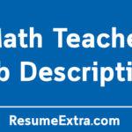 Math Teacher Job Description Sample