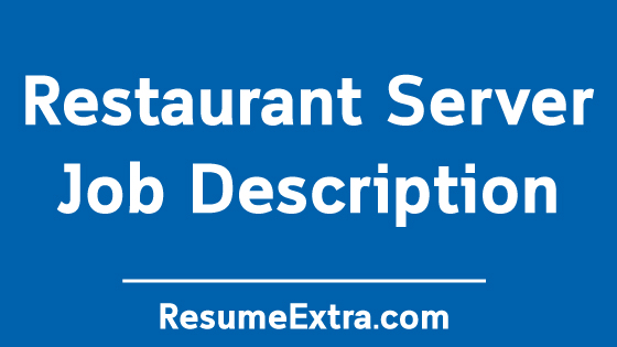Restaurant Server Job Description Sample