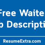 Free Waiter Job Description Sample