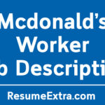 Mcdonald's Worker Job Description Sample