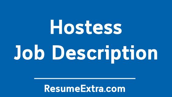 Hostess Job Description Sample