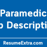 Paramedic Job Description Sample