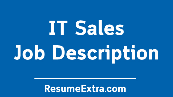 IT Sales Job Description Sample