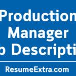 Production Manager Job Description Sample