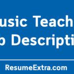 Music Teacher Job Description Sample