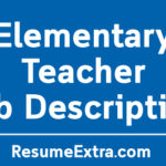 Elementary Teacher Job Description Sample