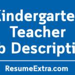 Kindergarten Teacher Job Description Sample