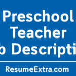 Preschool Teacher Job Description Sample
