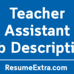 Teacher Assistant Job Description Sample