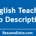 English Teacher Job Description Sample