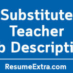 Substitute Teacher Job Description Sample