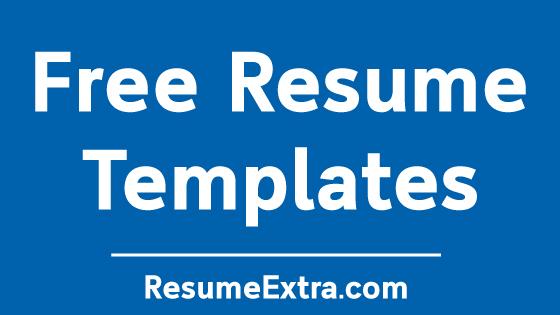 Killer Resume Templates Free