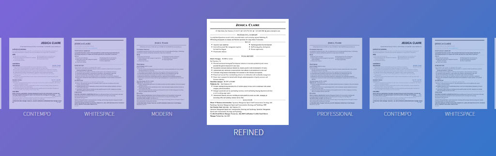 free of charge resume builder online with well designed templates